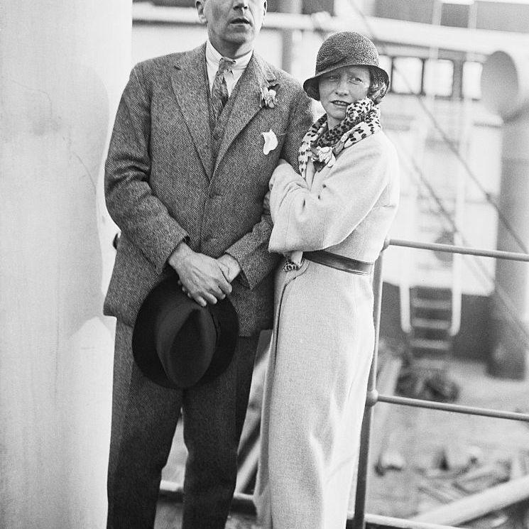 Edna St. Vincent Millay and her husband Eugen Boissevain embarking for Spain in 1932.