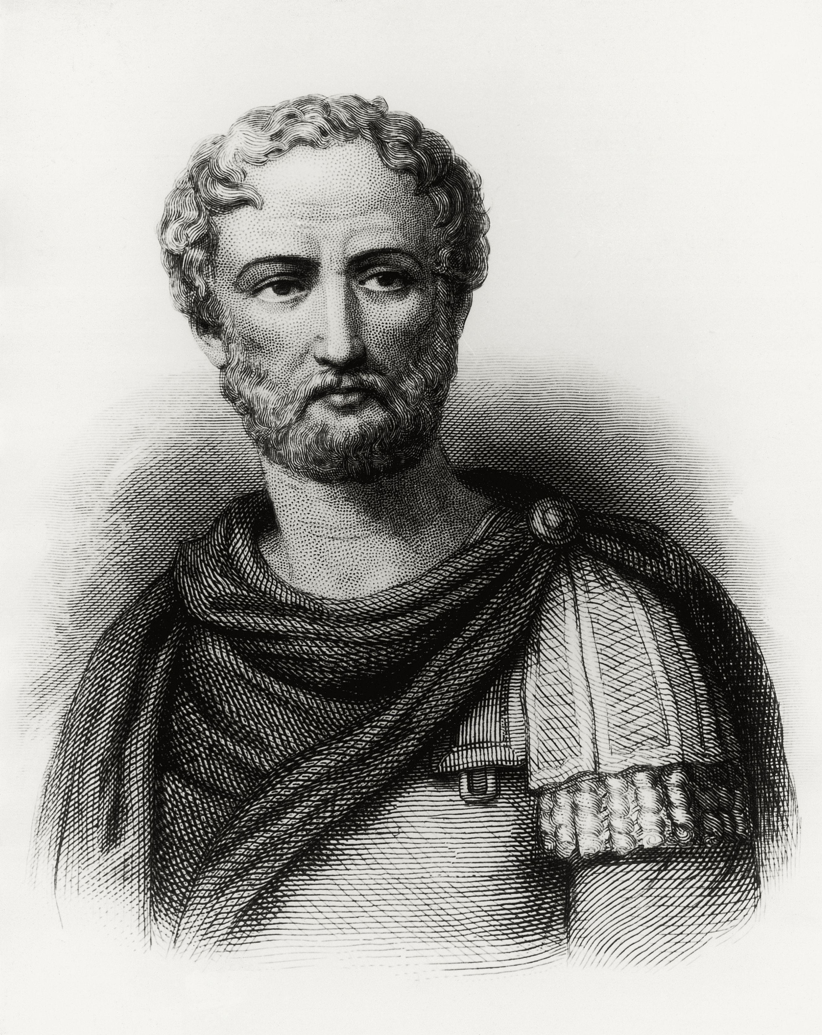 Pliny the Younger, Gaius Plinius Caecilius Secundus (Como, 61-62 AD-112-113 AD), Roman writer, engraving, Italy, 1st-2nd century AD