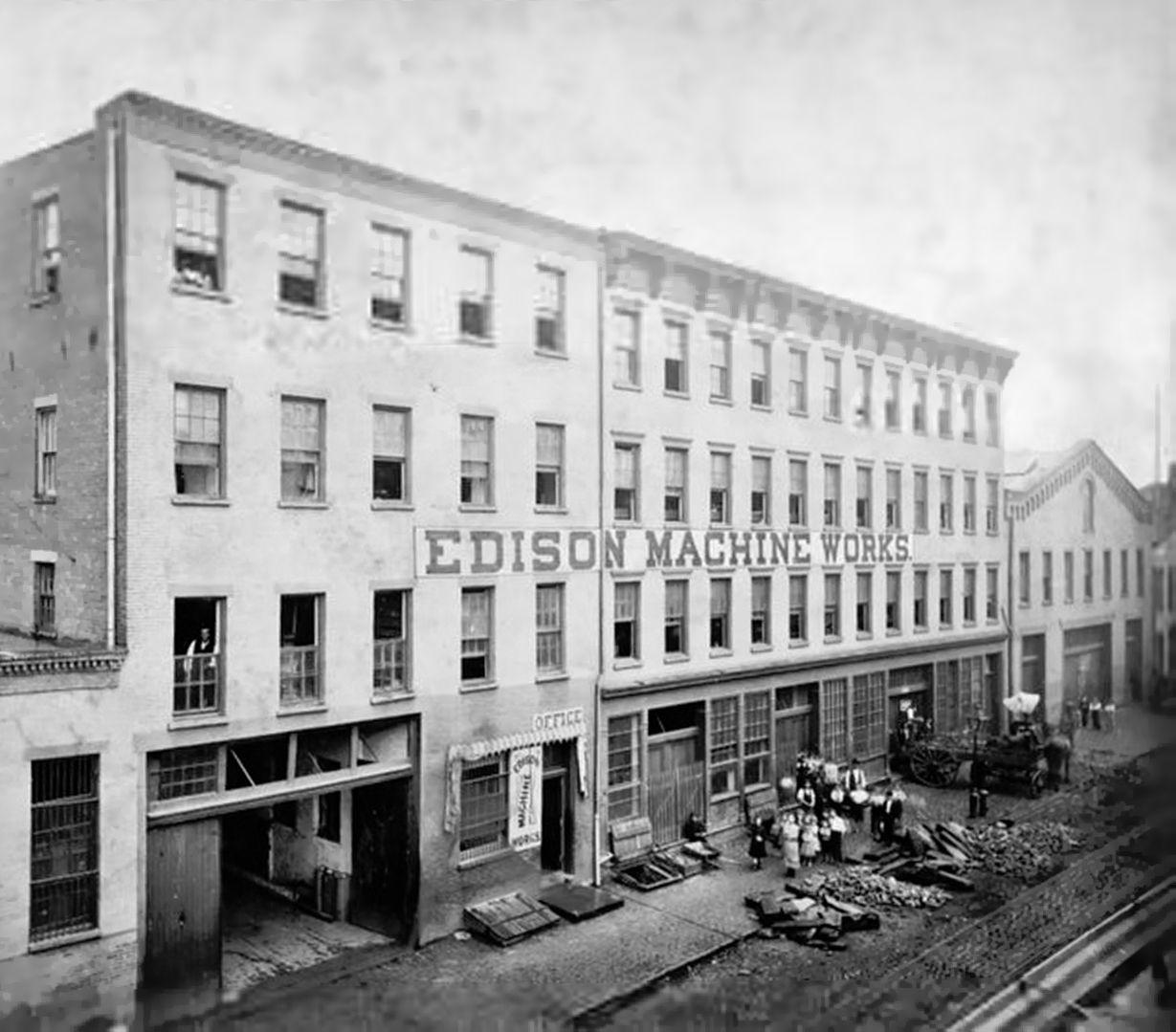 Edison Machine Works in New York City, 1881