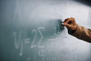 Math on a chalk board