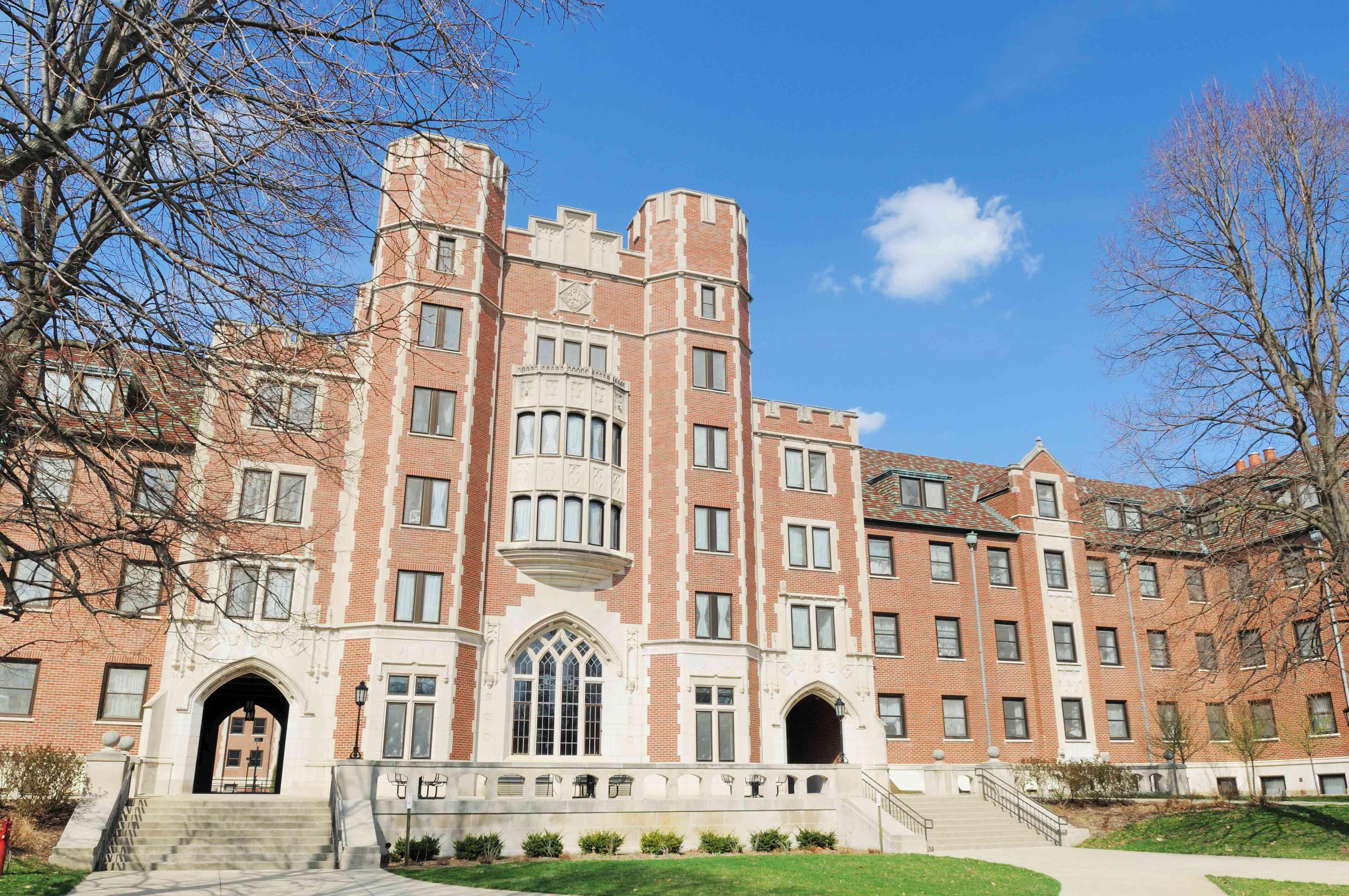 Classic Architecture Cary Quadrangle Purdue University Student Dormitory Building