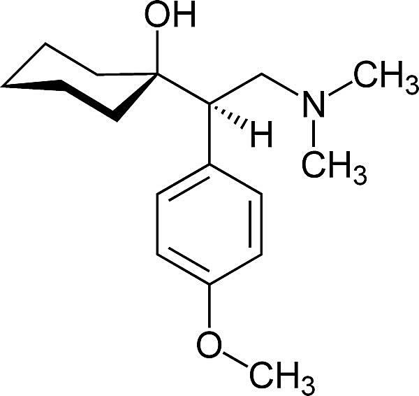 This is the chemical structure of venlafaxine.