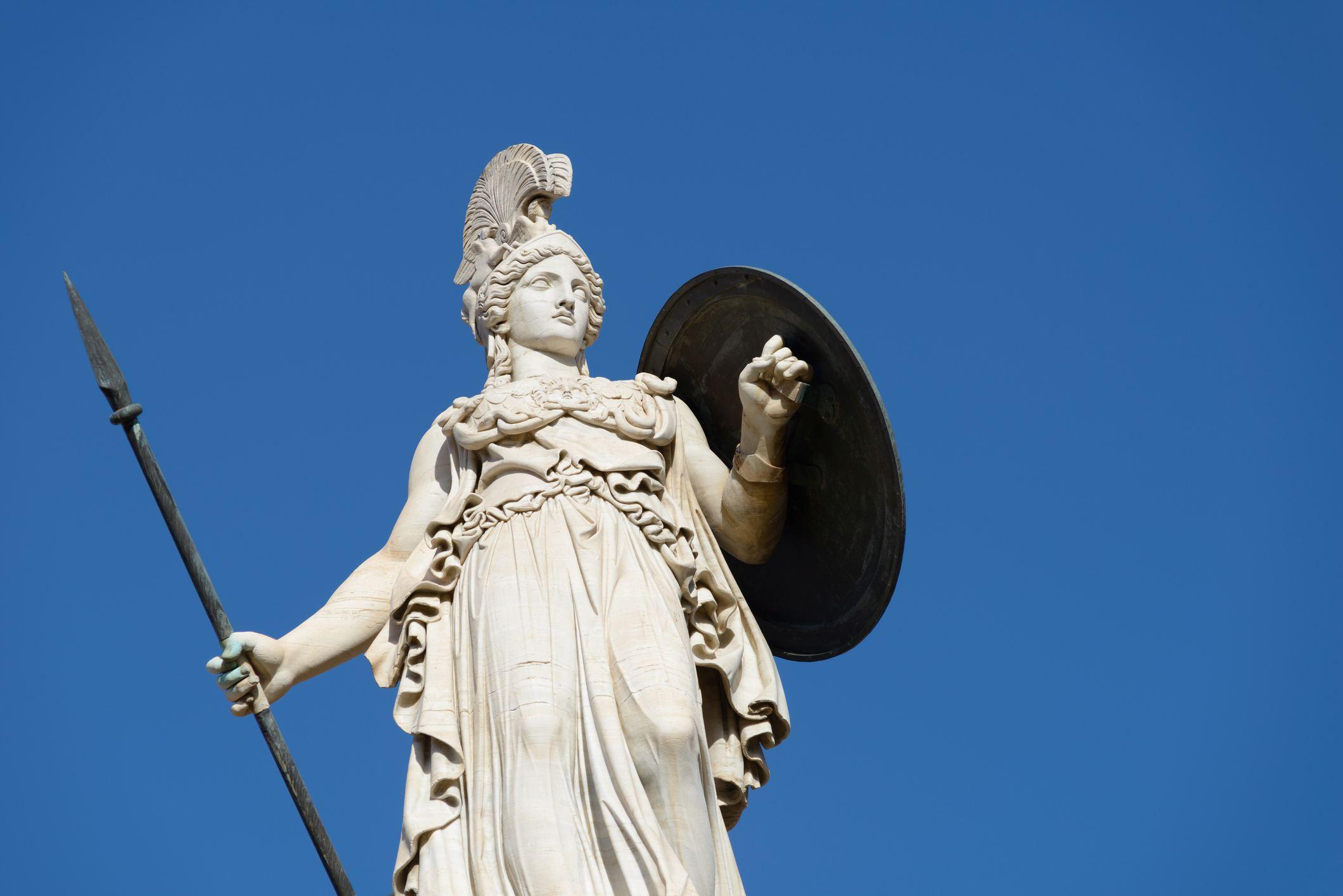 Skulptur der Athene in Athen