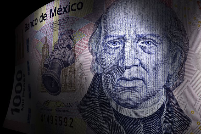 Miguel Hidalgo's close up on a thousand pesos bill
