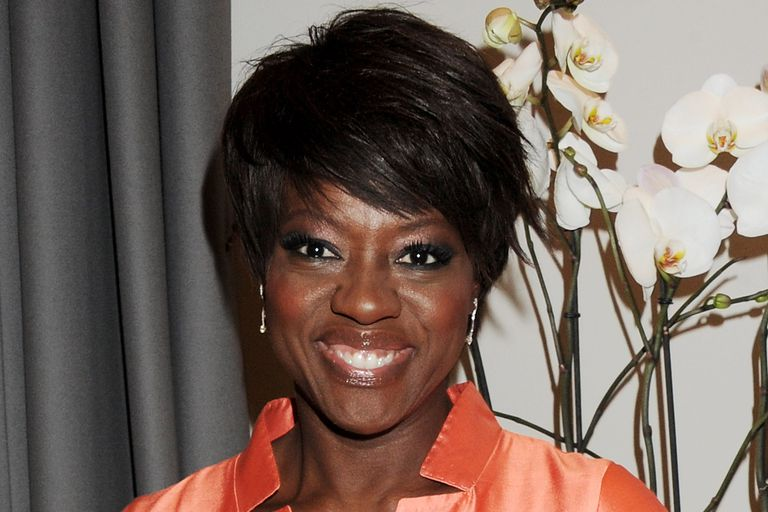 "Viola Davis celebrates film version of ""The Help"" in 2012"