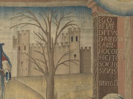 'February (Febbraio), by Benedetto da Milano upon drawing by Bramantino, c. 1503-1508, 16th Century, tapestry'