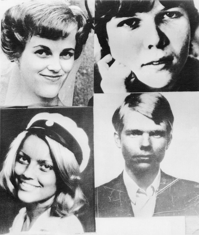portraits of the four bank clerk hostages held during the Norrmalmstorg robbery