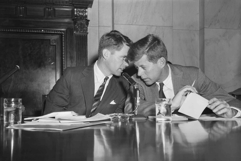 photograph of Robert and John Kennedy