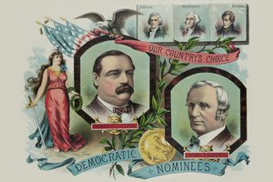 Grover Cleveland campaign poster from 1884