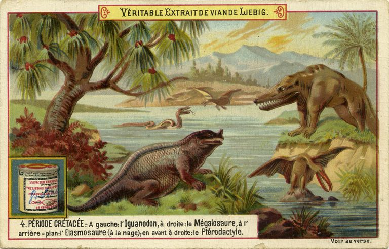 Illustration of Megalosaurus at waterside
