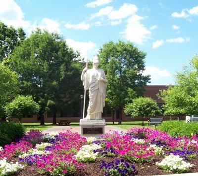 Minerva Plaza at SUNY Postdam - Statue of Minerva