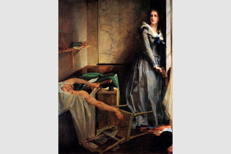 """Charlotte Corday after the murder of Marat,"" 1861, by Paul-Jacques-Aime Baudry"