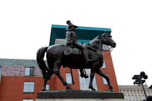 Louis T. Rebisso's William Henry Harrison statue