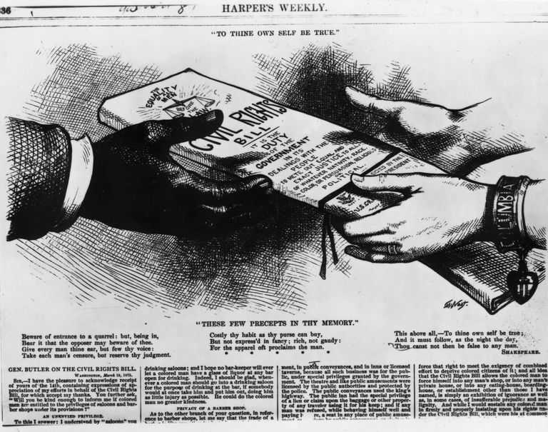 Archival newspaper illustration related to the passage of the Civil Rights Bill