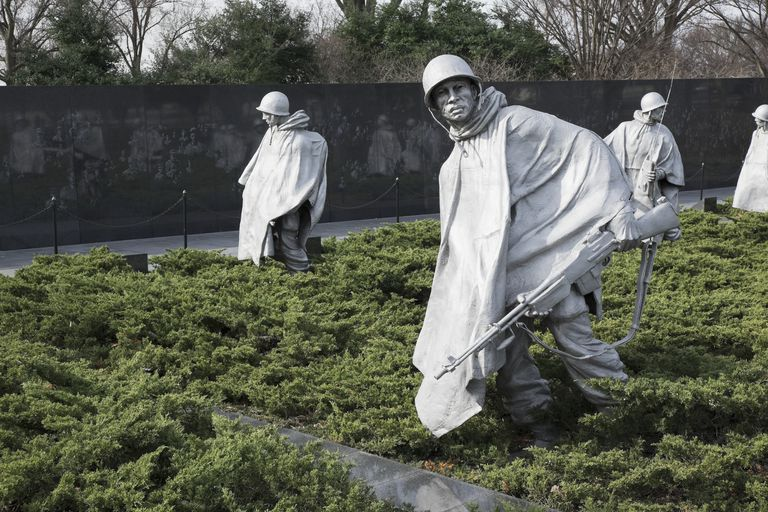 Korean Veterans Memorial; Washington, District of Columbia, USA
