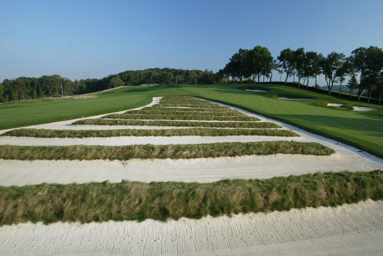 Church Pews bunker at Oakmont Country Club