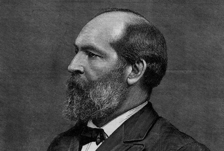Engraved portrait of President James Garfield