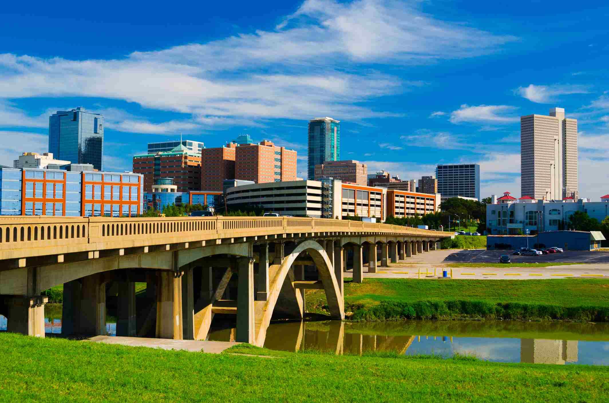 Fort Worth skyline and bridge