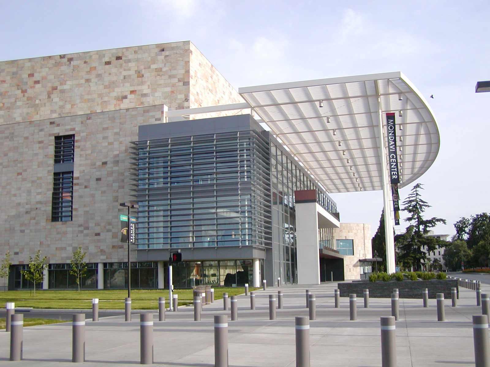 Mondavi Center at UC Davis on a sunny day.