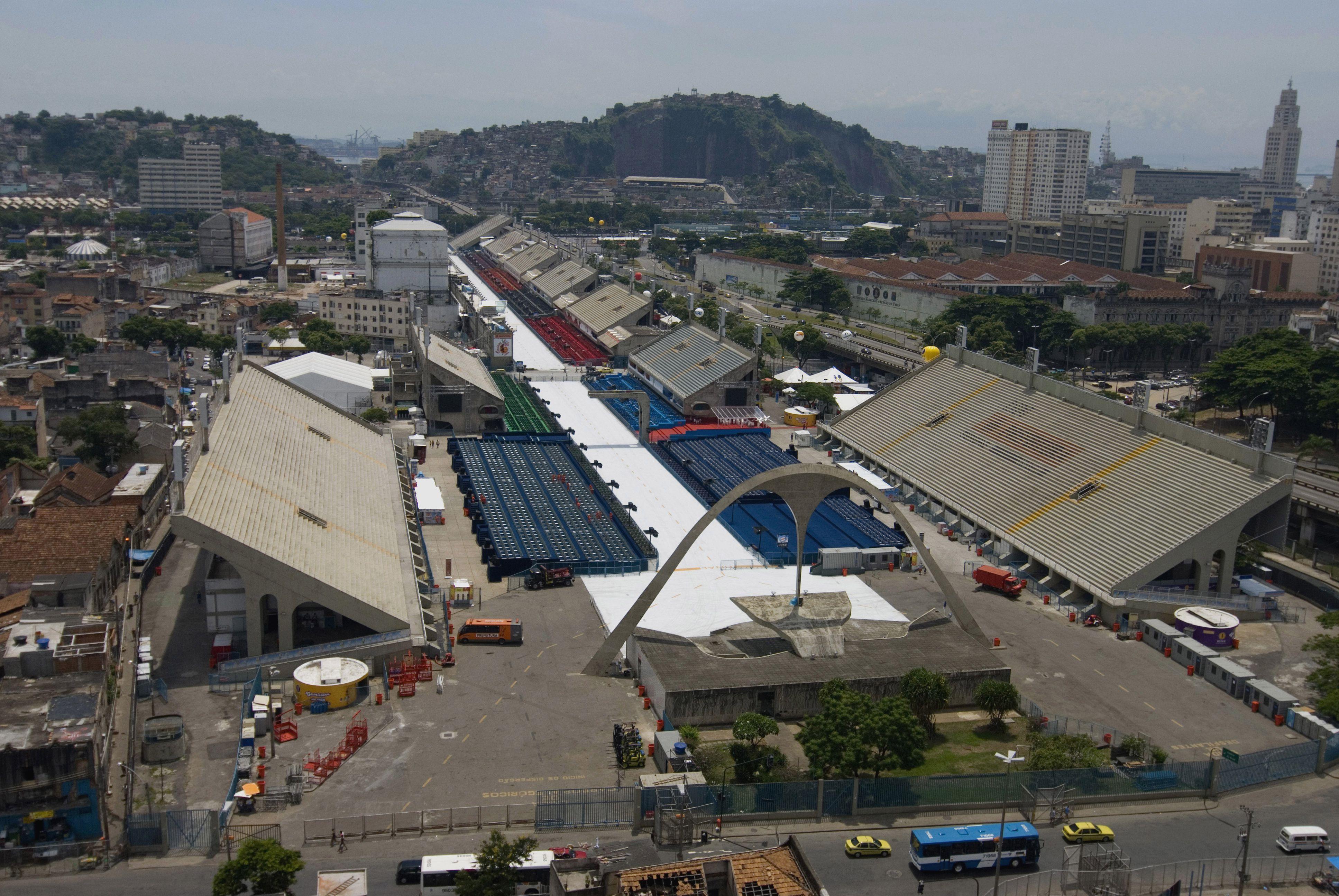 Oscar Niemeyer designed Sambadrome, Carnival parade ground in Rio de Janeiro, Brazil