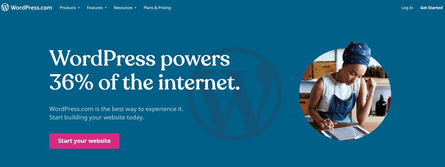 Go to the WordPress home page to begin your blogging journey