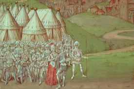 Isabella of France and her troops at Hereford