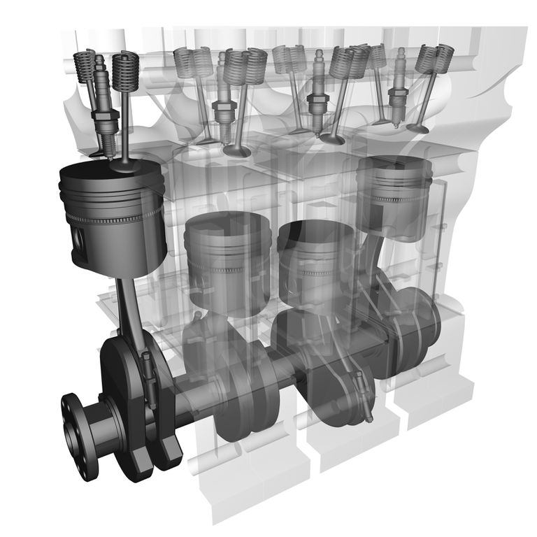 Digital illustration of Motor
