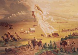 'American Progress', by John Gast (1872), depicting 'Manifest Destiny'