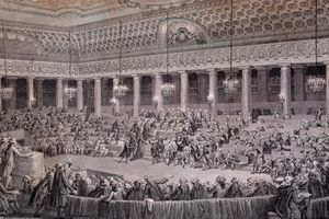 National Assembly session for the abolition of privileges and feudal rights, Versailles, August 4, 1789