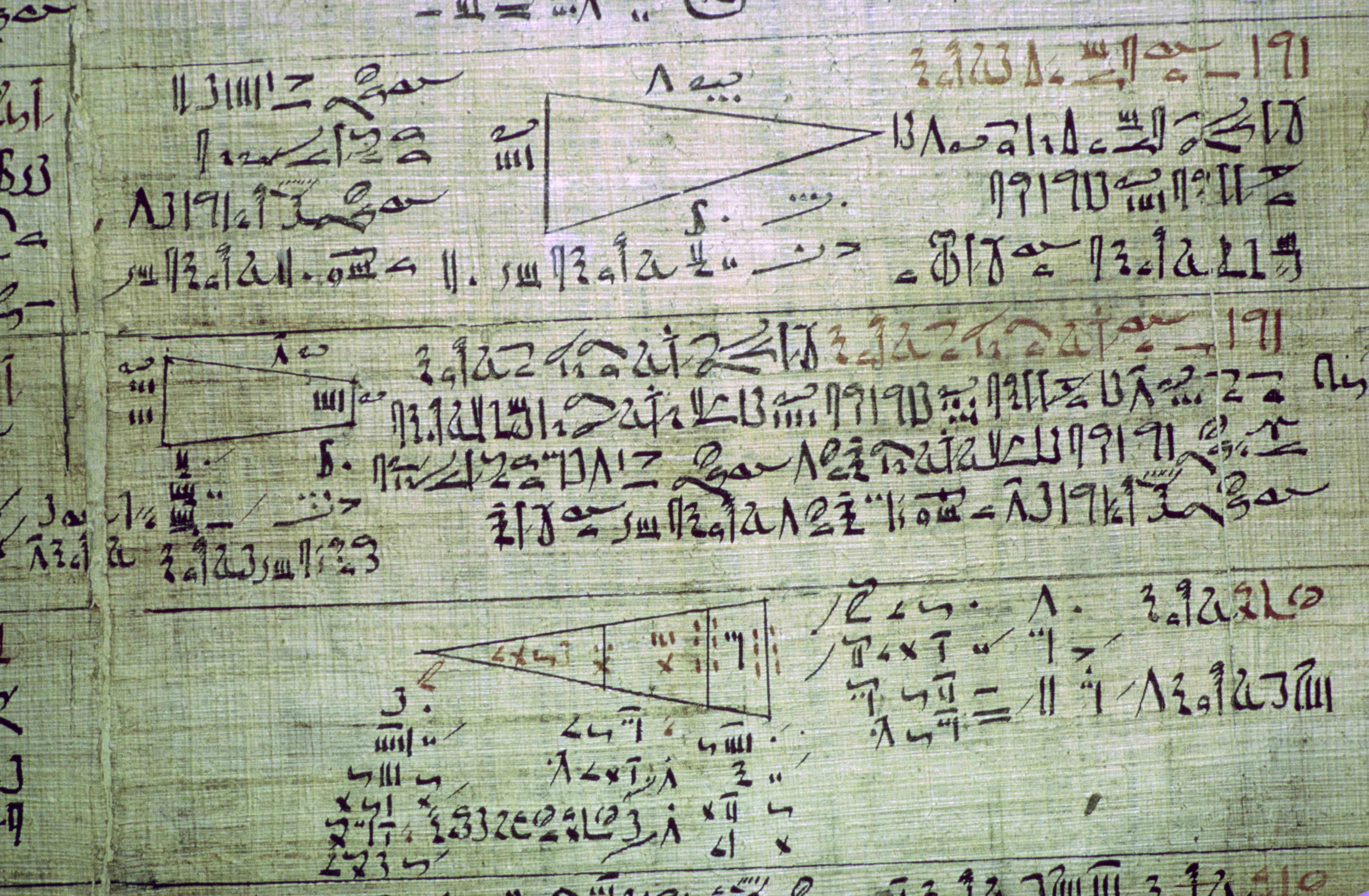 Detail of the Rhind mathematical papyrus