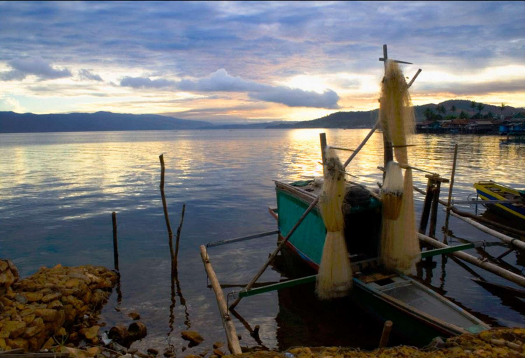 Lake Matano at sunrise