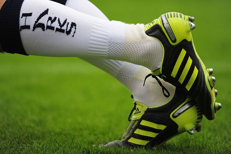Detail of rugby boots