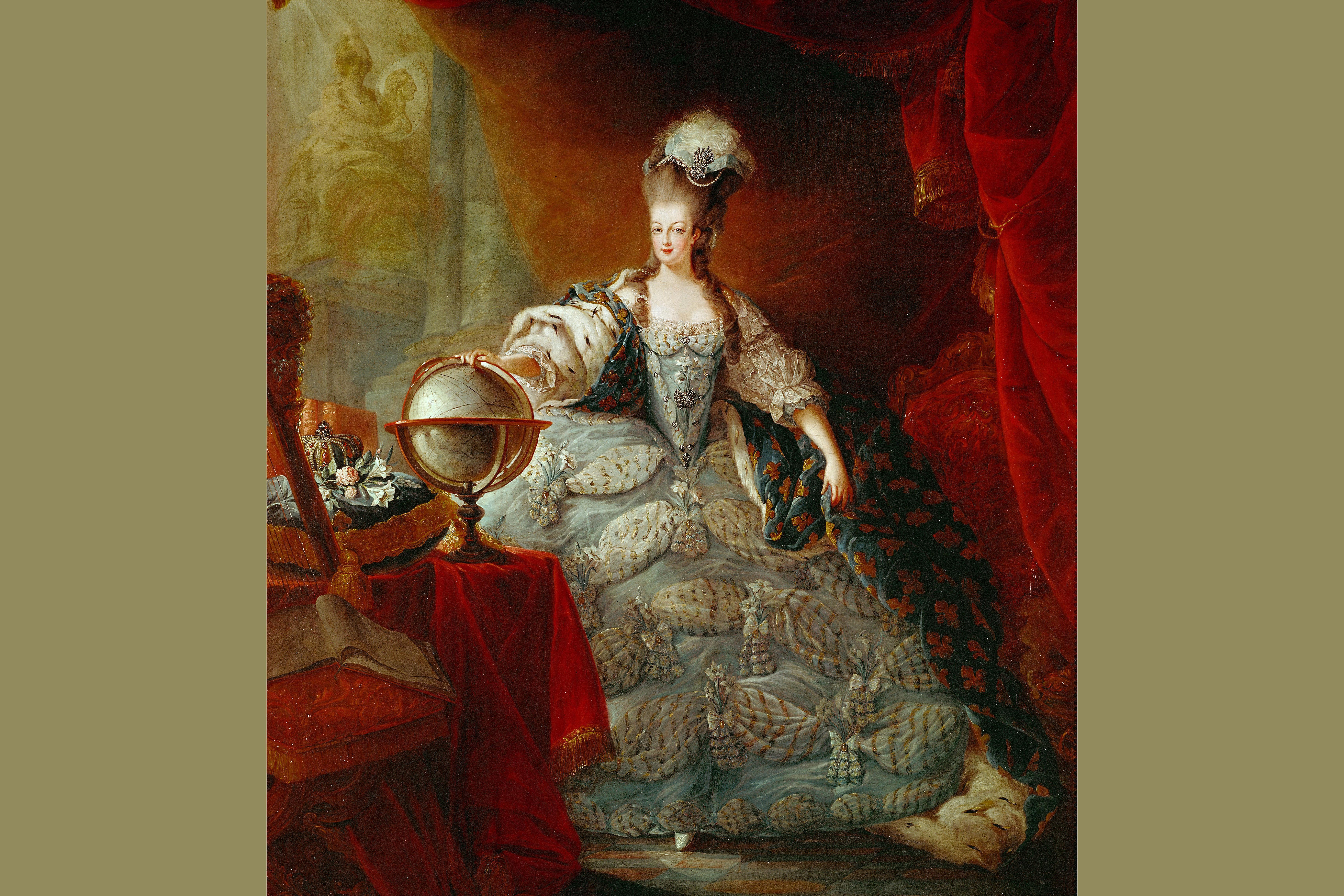 Marie Antoinette. Portrait by Jacques-Fabien Gautier d'Agoty