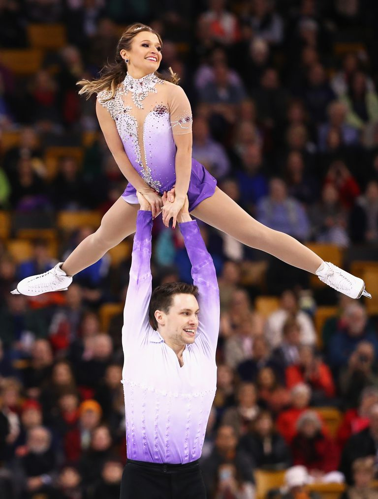 Kirsten Moore-Towers and Michael Marinaro of Canada Do an Overhead Pair Skating Lift