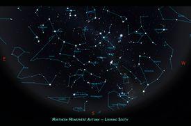 Northern hemisphere autumn constellations.