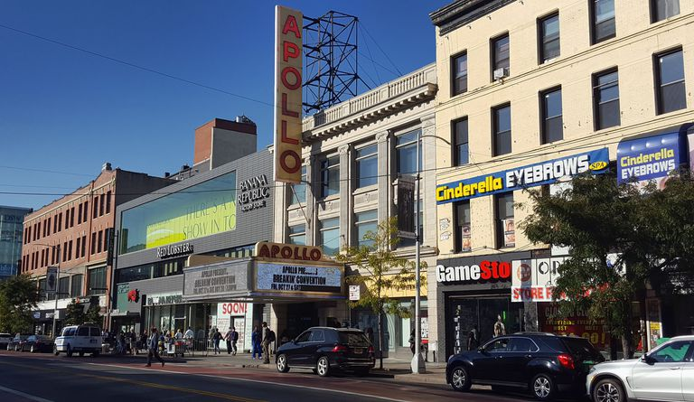 The Apollo Theater in between Banana Republic and GameStop