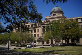 Texas A&M Academic Building at the heart of the main campus in College Station