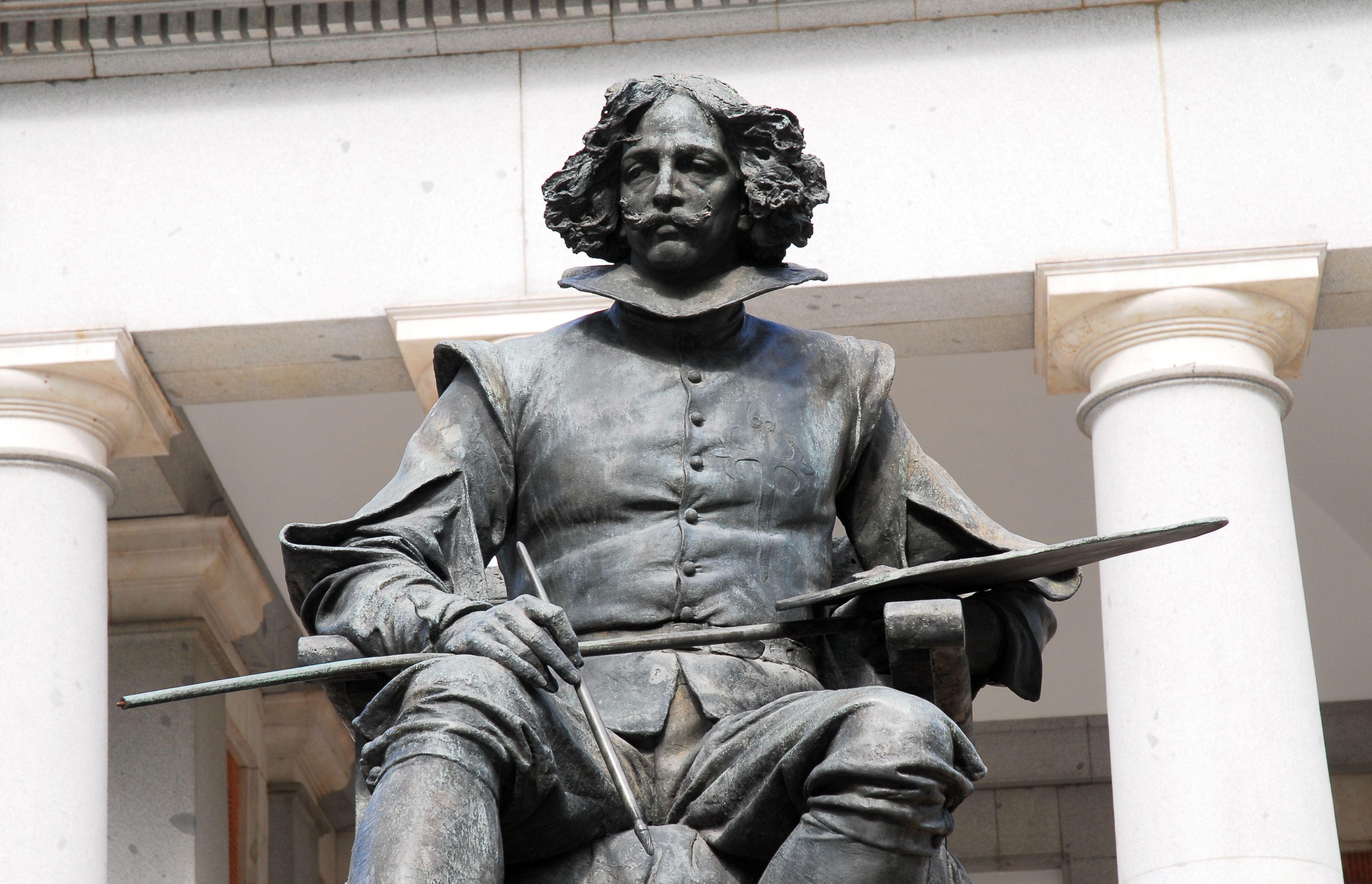Statue of Diego Velazquez at Prado Museum, Madrid