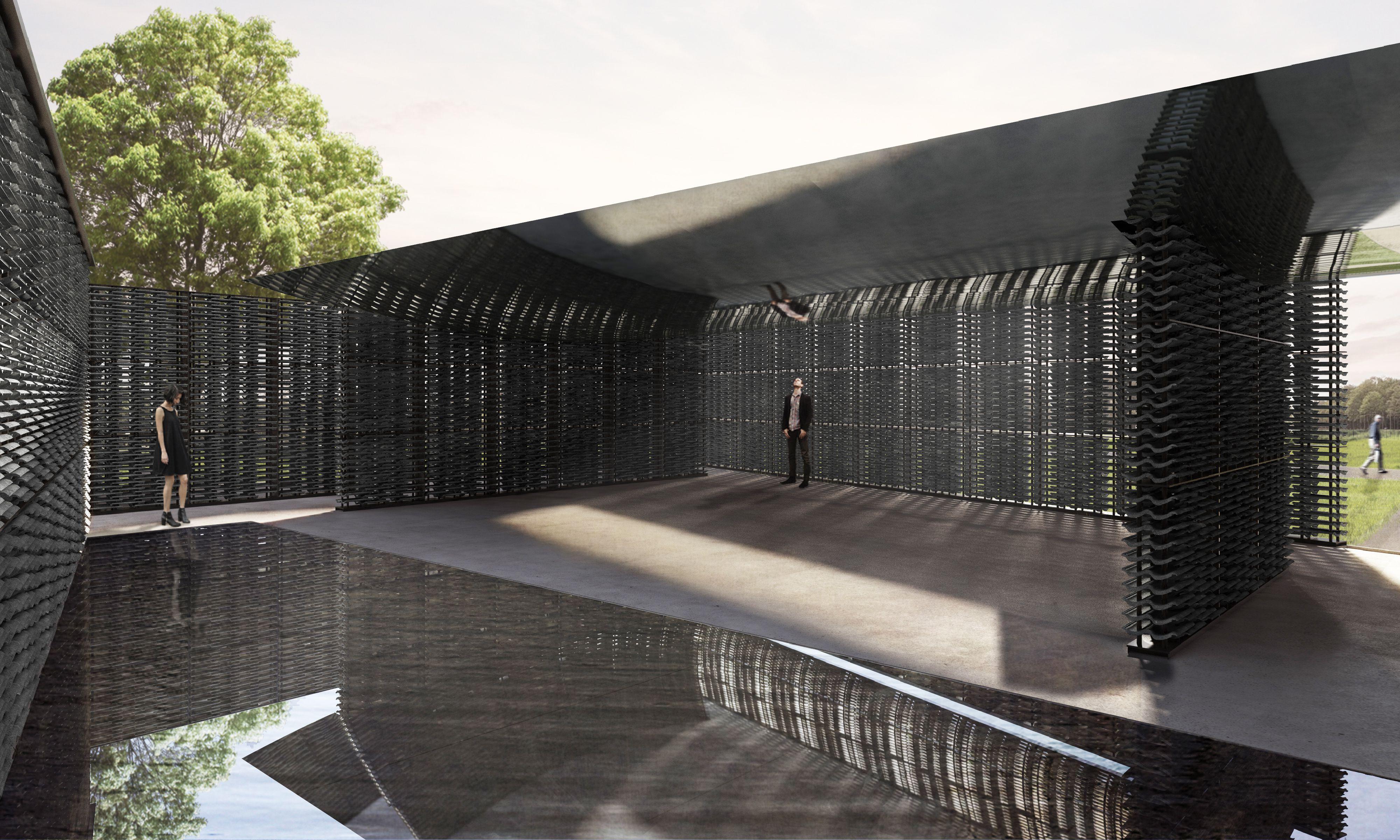 Rendering of Serpentine Pavilion 2018 Designed by Frida Escobedo