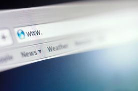 A browser showing the URL search bar.