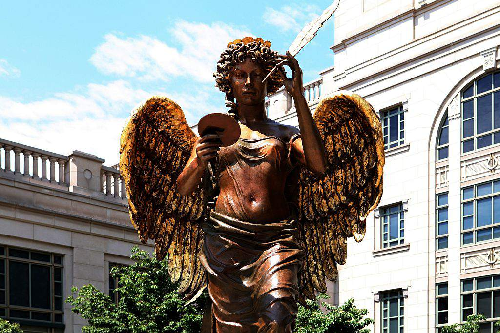 Audrey Flack's 'Recording Angel'