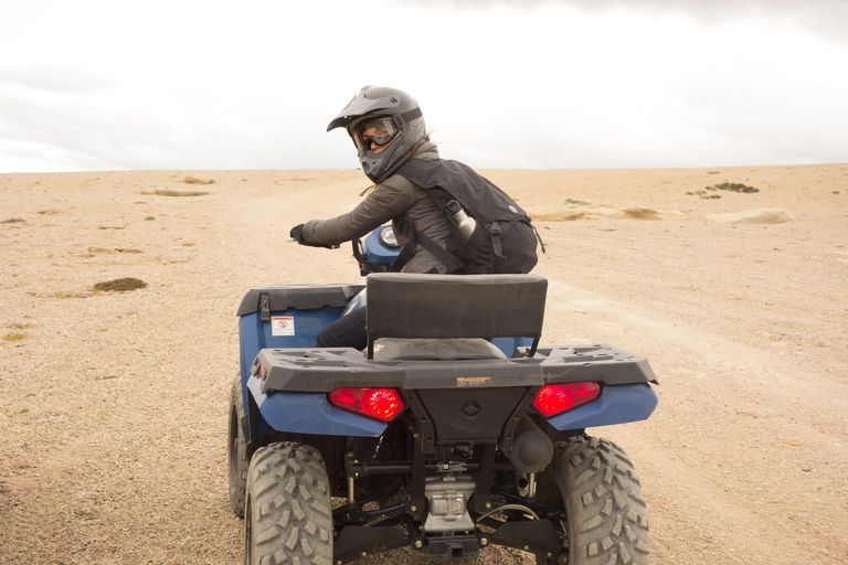 Woman riding ATV in Argentina