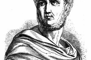 Publius, Gaius Cornelius Tacitus, AD 56 - AD 120, senator and a historian of the Roman Empire
