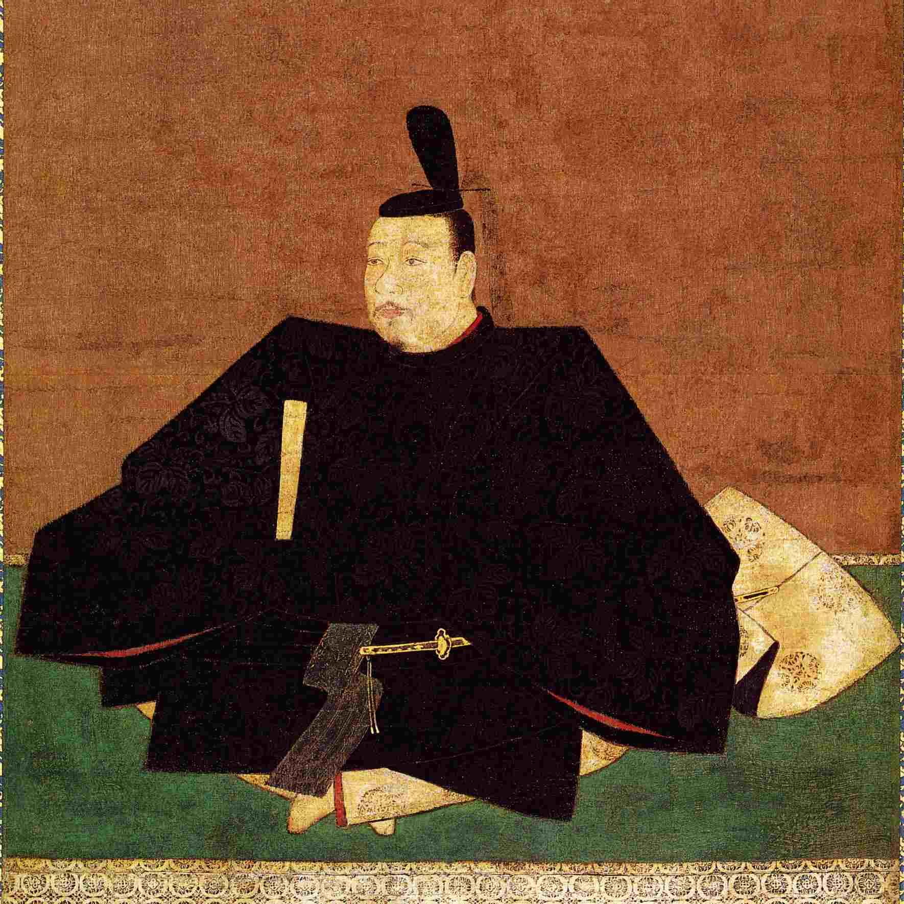 Painting of Ahsikaga Takauji seated.