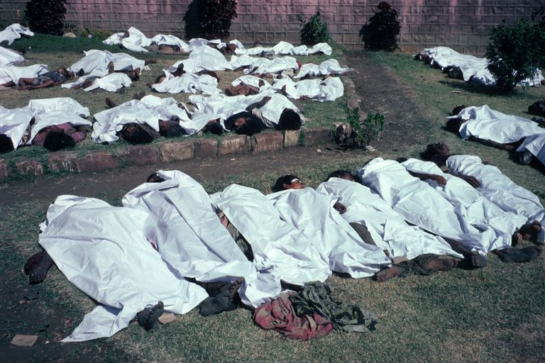 The victims lay dead December 5, 1984 in Bhopal, India