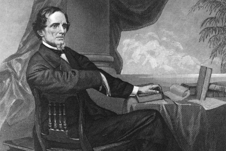 Engraved portrait of Jefferson Davis