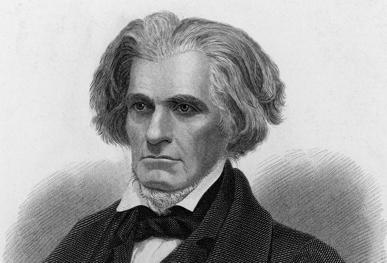 Engraved portrait of John C. Calhoun