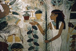 Egypt, Thebes, Tomb of Nakht, Banquet Scene, Tombs of the Nobles
