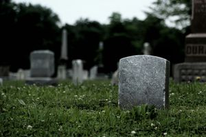 Tombstones in a cemetary