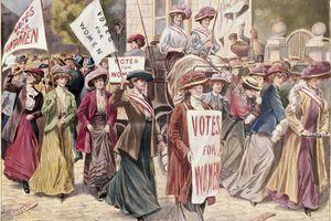 Suffragette Demonstration inLondon by Unknown Artist